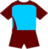 a selection of blank soccer strips for you to colour in yourself